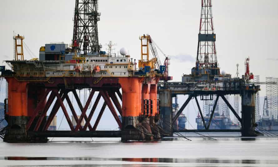 Oil rigs stack up in the Cromarty Firth