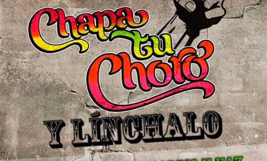 """Facebook page for Chapa tu Choro, in the colours and style of popular """"Chicha"""" art."""