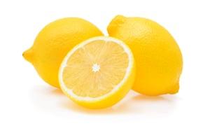 Close-Up Of Lemons Against White Backgroundlemon isolated on white background