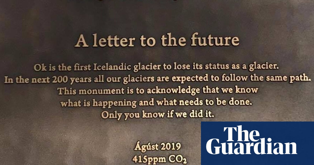 Memorial to mark Icelandic glacier lost to climate crisis | Environment | The Guardian