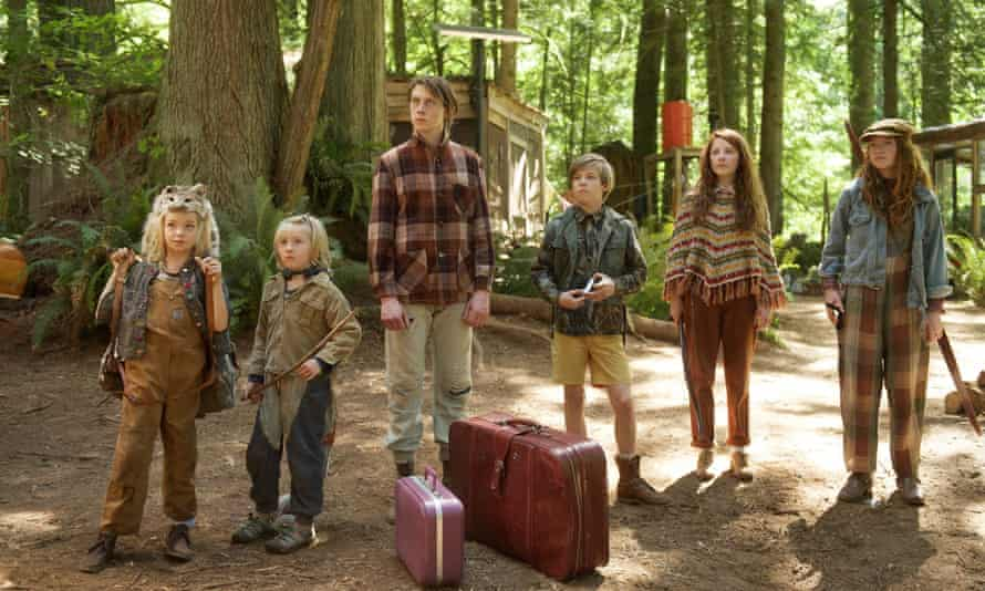 Family fantastic: from left, Shree Crooks, Charlie Shotwell, George MacKay, Nicholas Hamilton, Samantha Isler and Annalise Basso.