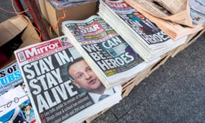 Leo Varadkar on the front pages of Irish national newspapers on Wednesday