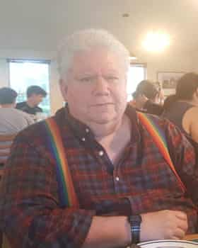 Ray Frank, 72, at a communal dinner at Muir Commons