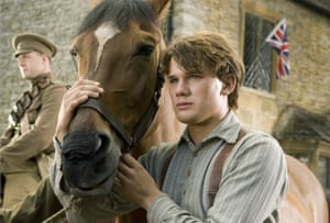 Jeremy Irvine in the 2011 adaptation of Michael Morpurgo's War Horse.