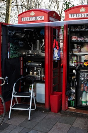 red phone box cafe