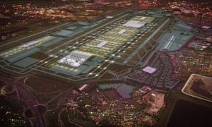 An artists' impression of the winning design for Heathrow airport if a third runway is constructed.