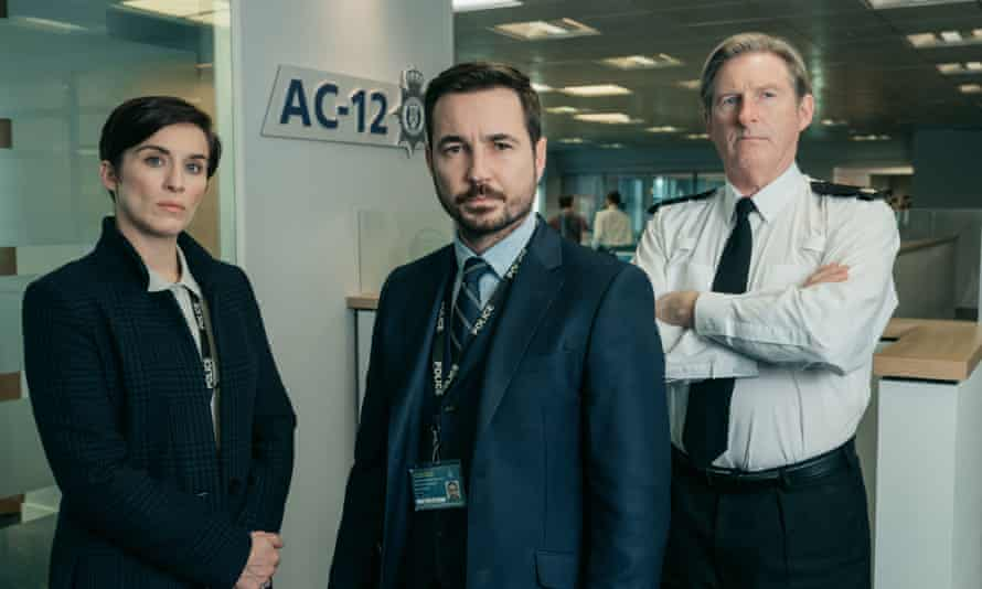 Kate (Vicky McClure), Steve (Martin Compston), Hastings (Adrian Dunbar) in series five of Line of Duty.