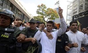 Image result for Venezuelan opposition leader Leopoldo Lopez back in house arrest