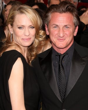 Sean Penn with former partner Robin Wright, in 2009.