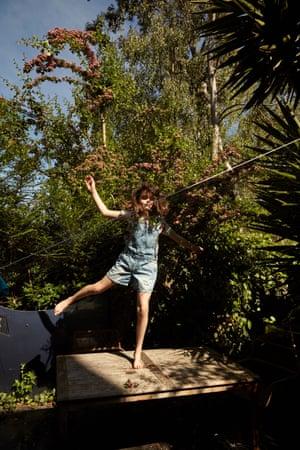 Lilah, 11, wears Dungarees, £23, next.co.uk. T-shirt, £12, arket.com. Trainers, £85, veja-store.com. Fashion assistant, Peter Bevan. Models, photographer's own