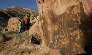 Petroglyphs at the Gold Butte National Monument near Bunkerville, Nevada. A leaked memo from Interior Secretary Ryan Zinke to President Donald Trump recommends that Gold Butte and Oregon's Cascade-Siskiyou also be reduced.