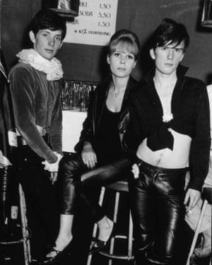 Klaus Voormann, left, withAstrid Kirchherr and original Beatles bassist Stuart Sutcliffe