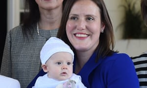Kelly O'Dwyer with baby