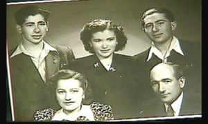 Ernrst, right, and his surviving siblings and brother in-law after the war