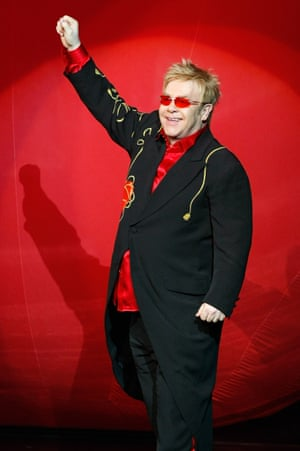 Between 2003 and 2010, Elton's stage costumes were custom-made by Japanese fashion designer Yohji Yamamoto, including those he wore for The Red Piano residency in Las Vegas