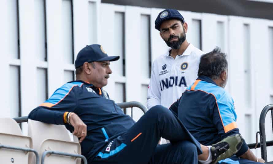 Shastri with his captain Virat Kohli.