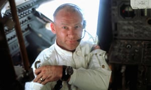A portrait of Buzz Aldrin aboard the Lunar Module on the lunar surface just after the first moon walk on 20 July 1969.