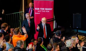 Jeremy Corbyn and John McDonnell at a Labour party rally in Liverpool
