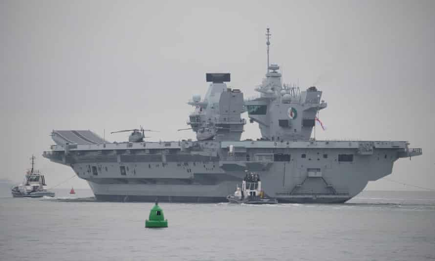 A Royal Navy aircraft carrier. There are concerns that the UK armed forces could fall victim to an outbreak of the type that has affected the US and French navies.