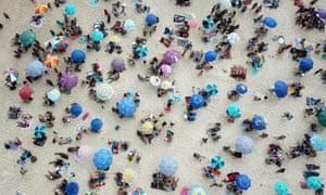People enjoying themselves at Ipanema beach in Rio de Janeiro amid the coronavirus disease in Brazil.