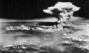 The explosion as the bomb hits Hiroshima