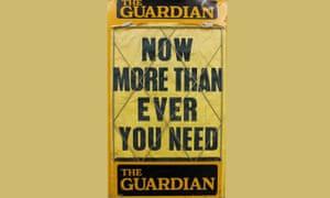 Newsbill featuring a Guardian advert, no date [c1970s]