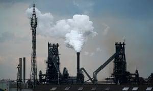 British Steel's Scunthorpe works