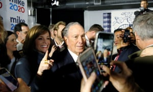 Bloomberg with supporters at a rally in Georgia in January.
