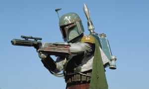 Gun for hire … Boba Fett, the bounty hunter in the early Star Wars films, adopted Mandalorian body armour.