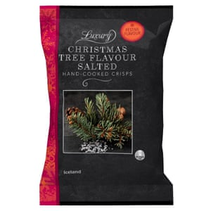 Iceland Luxury Christmas Tree Flavour Salted Hand Cooked Crisps 180g
