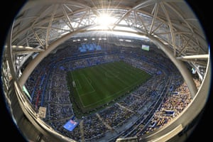 A general view of the Samara Arena, during Brazil's last-16 win over Mexico.