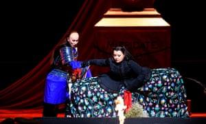 Salome Jicia (Sifare) and Albina Shagimuratova (Aspasia) in Mitridate, re di Ponto at the Royal Opera House.