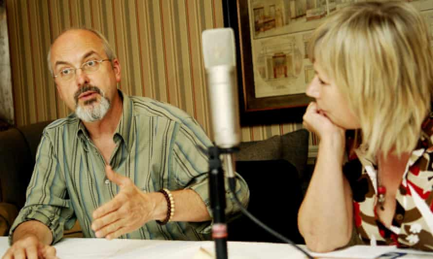 Kelly with the visual artist Bill Viola at a thinktank discussion on technology and the arts in 2006.