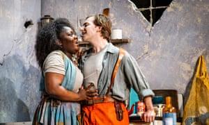 Masabane Cecilia Rangwanasha (Susanna) and Patrick Terry (Joacim) in Susanna at the Linbury theatre.