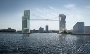Steven Holl's Copenhagen Gate bridge design.
