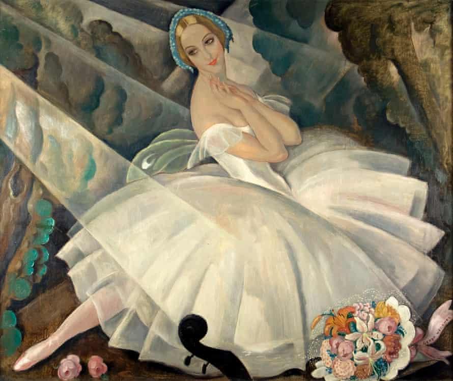 The Ballerina Ulla Poulsen in the Ballet Chopiniana, Paris, 1927, by Gerda Wegener.
