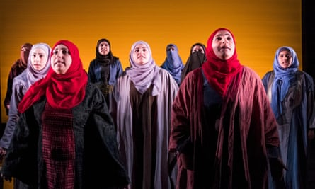 A scene from Queens of Syria at the Young Vic.