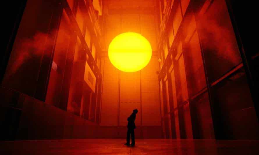 Olafur Eliasson with his installation The Weather Project.