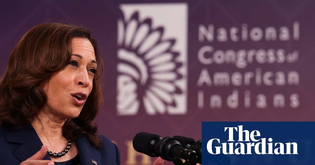US must face up to 'shameful past' with tribal nations, Harris says
