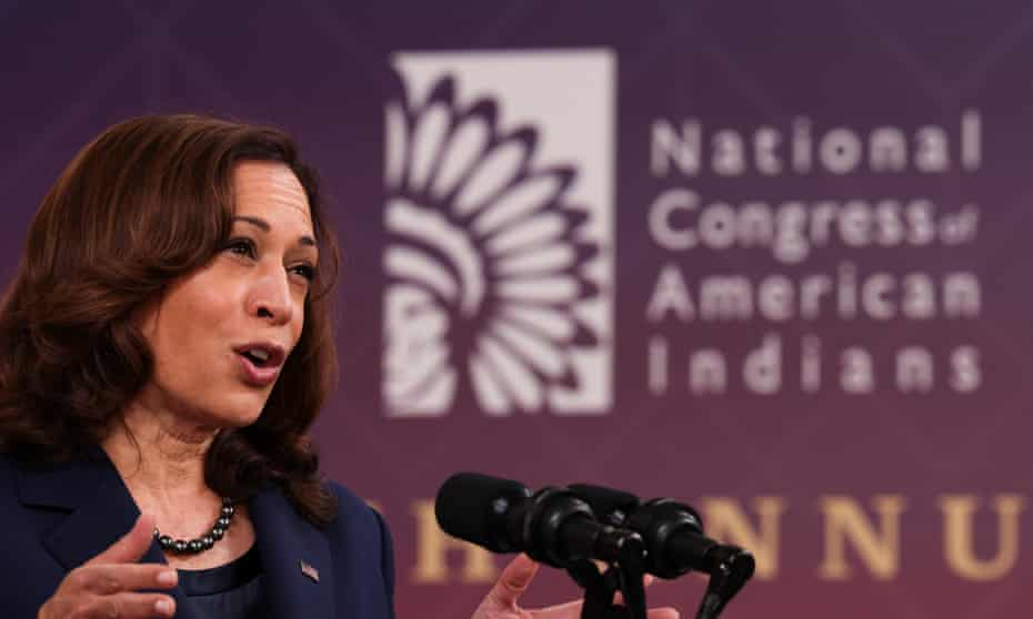 Kamala Harris addresses the National Congress of American Indians convention