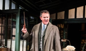 A finely judged performance … Hugh Bonneville as Dr Tomas Stockmann in An Enemy of the People.