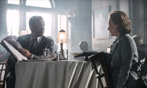 Smoky, panelled dining rooms … Tom Hanks and Meryl Streep in The Post.