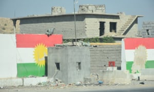 A peshmerga checkpoint in southern Kirkuk