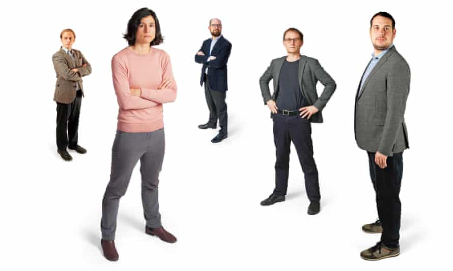Covid scientists, from left to right: Dr Eric Volz; Dr Christina Atchison; Dr Jeffrey Barrett; Professor Neil Ferguson; Professor Nick Loman