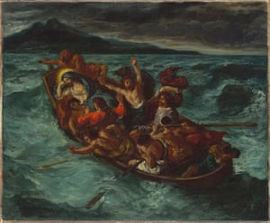 Christ on the Sea of Galilee, by Eugène Delacroix, 1853.