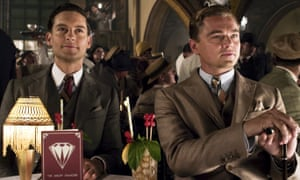 Tobey Maguire and Leonardo DeCaprio as Nick Carraway and Jat Gatsby in the 2012 adaptation of F Scott Fitzgerald's novel
