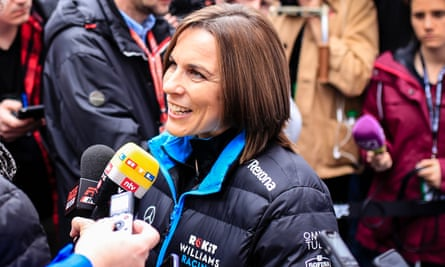 Claire Williams at pre-season practice in Spain