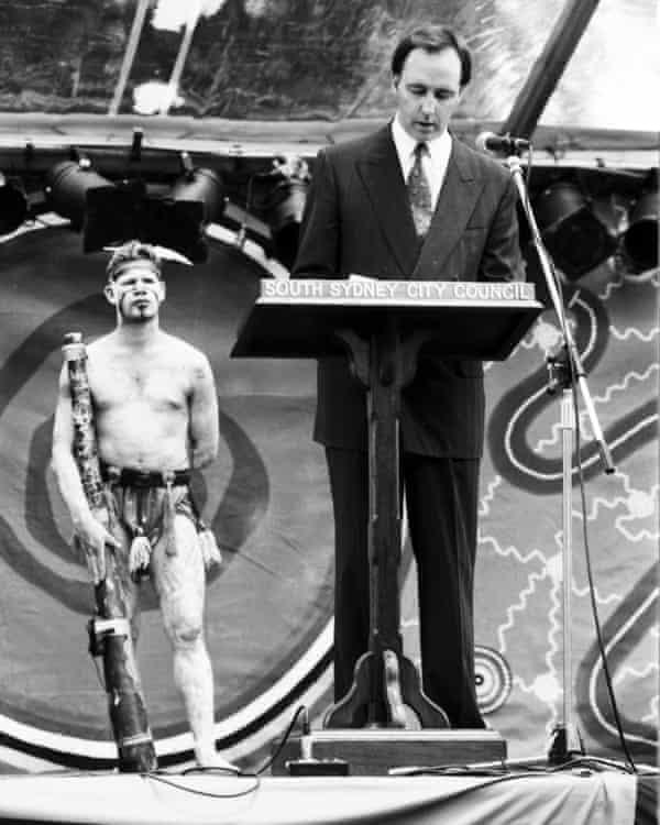 Australian prime minister Paul Keating delivers the landmark 'Redfern speech' in 1992.