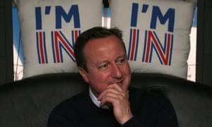 PM David Cameron on a campaign bus in Bristol.