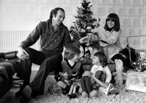 It looks like a happy christmas in the Bianchi household as Argentine footballer Carlos, his wife Margaret Mary and their children Mauro Carlos and Brenda sit around the Christmas tree